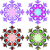 Vector clipart: Circular patterns