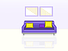 Vector clipart: Purple Sofa