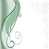 Vector clipart: green swirls with flowers