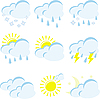 Vector clipart: set of weather icons