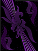 Vector clipart: purple floral background