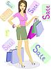 Vector clipart: Girl on sale