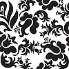 Vector clipart: black floral seamless