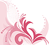 Vector clipart: pink floral background