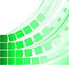 Vector clipart: green transparent squares