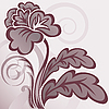 Vector clipart: brown flower