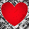 Vector clipart: heart of the squares