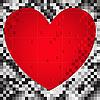 Векторный клипарт: Сердце квадратов