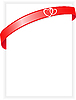 Vector clipart: sheet of paper with red ribbon