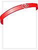 Векторный клипарт: лист бумаги с красной лентой