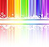 ID 3203619 | Blumen in den Regenbogen-Streifen | Stock Vektorgrafik | CLIPARTO
