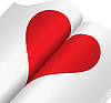 Vector clipart: heart in notebook