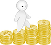 Vector clipart: man and money