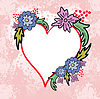 Vector clipart: Heart with flowers