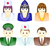 Vector clipart: Icons of people of different professions