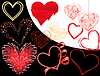 Vector clipart: set of hearts