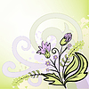 Vector clipart: abstract background with bouquet
