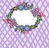 Векторный клипарт: сотовые кадр цветок