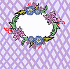 Vector clipart: cellular flower frame