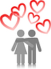 Vector clipart: couple in love