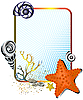 Meerleben - Rahmen mit Seesternen