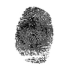 Vector clipart: imprint of index finger