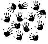 Vector clipart: Black prints of hands.