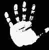 Vector clipart: imprint of hand.