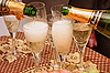 Champagne and glasses | Stock Foto