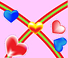 Vector clipart: Valentines hearts.