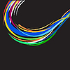 Vector clipart: varicoloured abstract lines