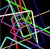 抽象的线条颜色 | 向量插图