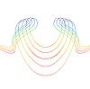 Vector clipart: Five colour lines