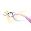 Vector clipart: Four colour lines.