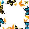Vector clipart: frame of butterflies
