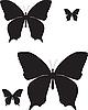 Vector clipart: butterflies