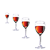 Vector clipart: Three glasses with wine.