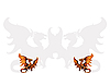 Vector clipart: Two medieval dragons.