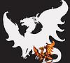 Vector clipart: dragon.