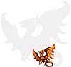 Vector clipart: Medieval dragon.