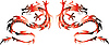 Vector clipart: Twins dragons
