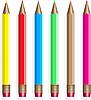 Vector clipart: Six colour pencils.