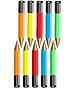 Vector clipart: Ten colour pencils.