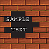 Vector clipart: Background of red bricks