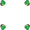 Vector clipart: Four green buttons.