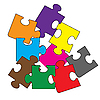 Vector clipart: Colour puzzles.