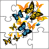 Vector clipart: Puzzle of butterflies.
