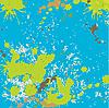 Векторный клипарт: Цвет абстрактных пятен.