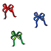 Векторный клипарт: Три лука: синий, красный, зеленый.