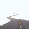Vector clipart: asphalted road leaving in distance